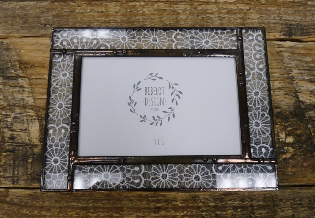 glass lace picture frame 4x6
